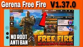 Garena Free Fire Mod Apk 1.37.0 UPDATED WORKING !