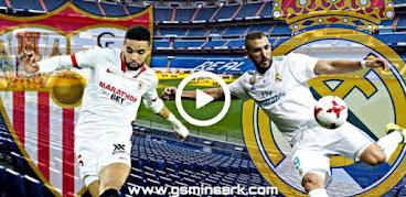 توقيت مباراة ريال مدريد و إشبيلية والتطبيقات الناقلة مباشر على الهواتف الذكية