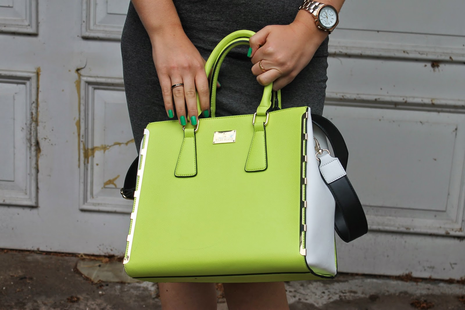 River Island Green Bag