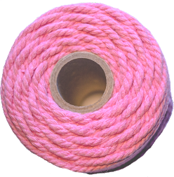 cotton cord rose pink