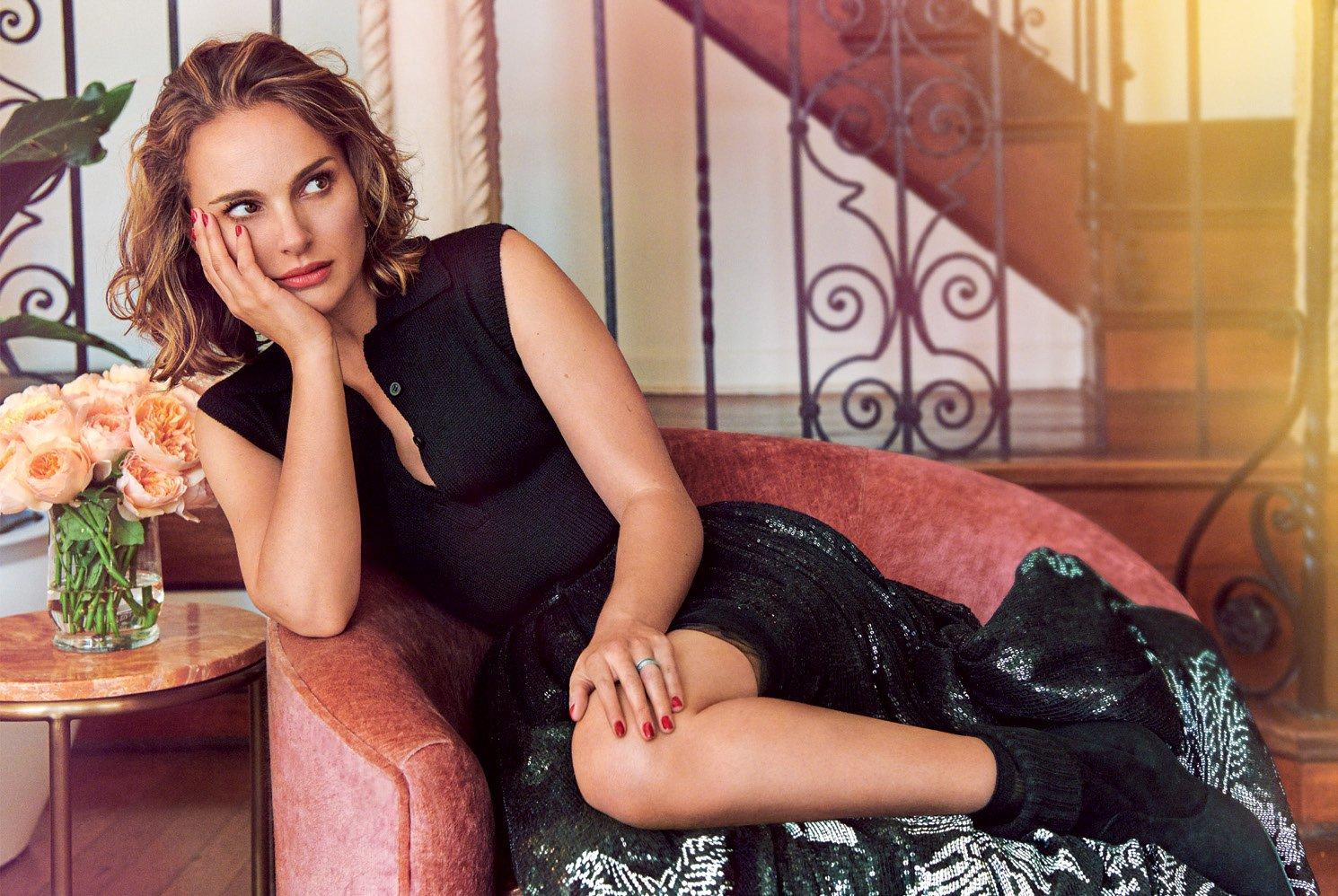 Natalie Portman in Harper's Bazaar UK September 2019 by Pamela Hanson