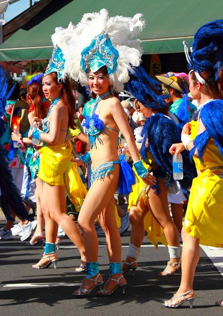 Asakusa Samba Carnival in Taito ward in Tokyo