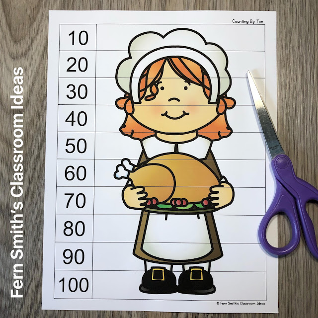 Click Here to Download these Thanksgiving Counting Puzzles for Your Classroom Today!