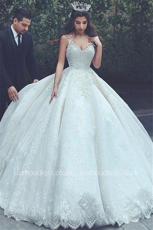 https://www.suzhoudress.co.uk/sleeveless-appliques-v-neck-lace-latest-ball-gown-wedding-dress-g21514?cate_2=7?utm_source=blog&utm_medium=ModernRapunzelBlog&utm_campaign=post&source=ModernRapunzelBlog