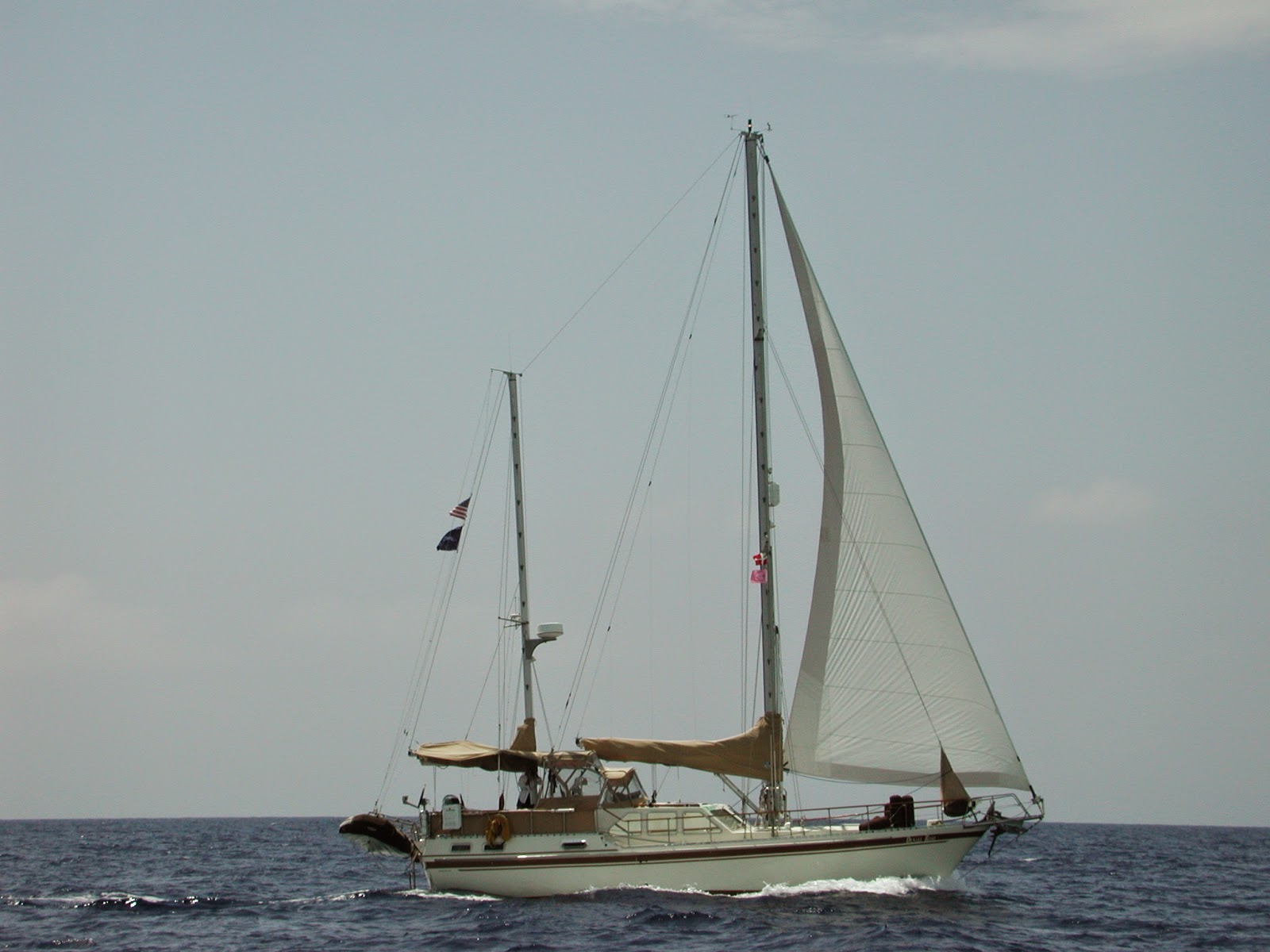Denali Rose sailing in open water