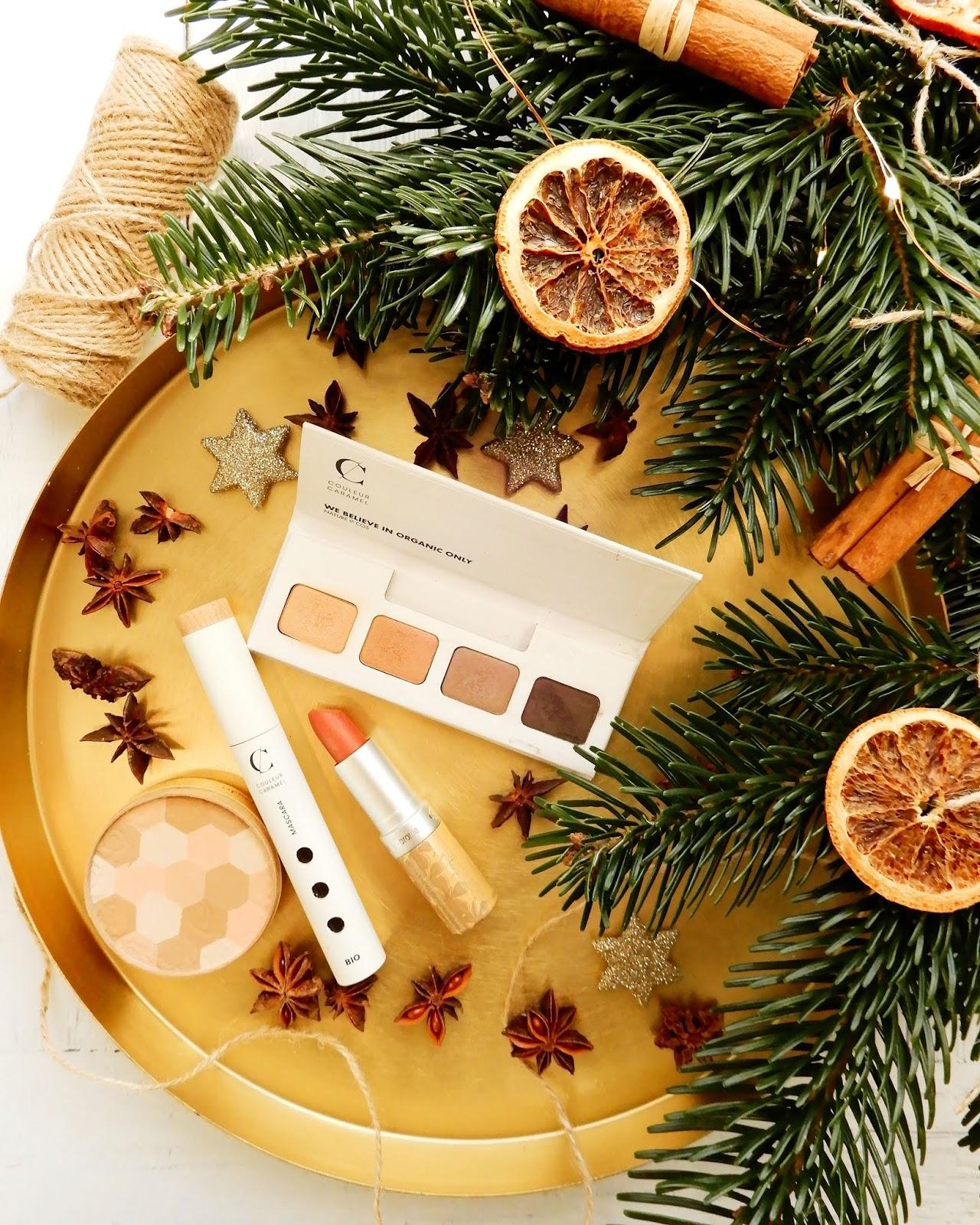Zima w kolorze karmelu z Couleur Caramel | Naturalny makijaż na Święta!