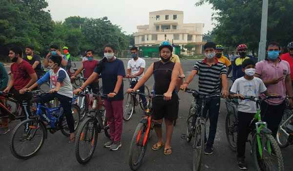 faridabad-corona-virus-awareness-cycle-rally-news