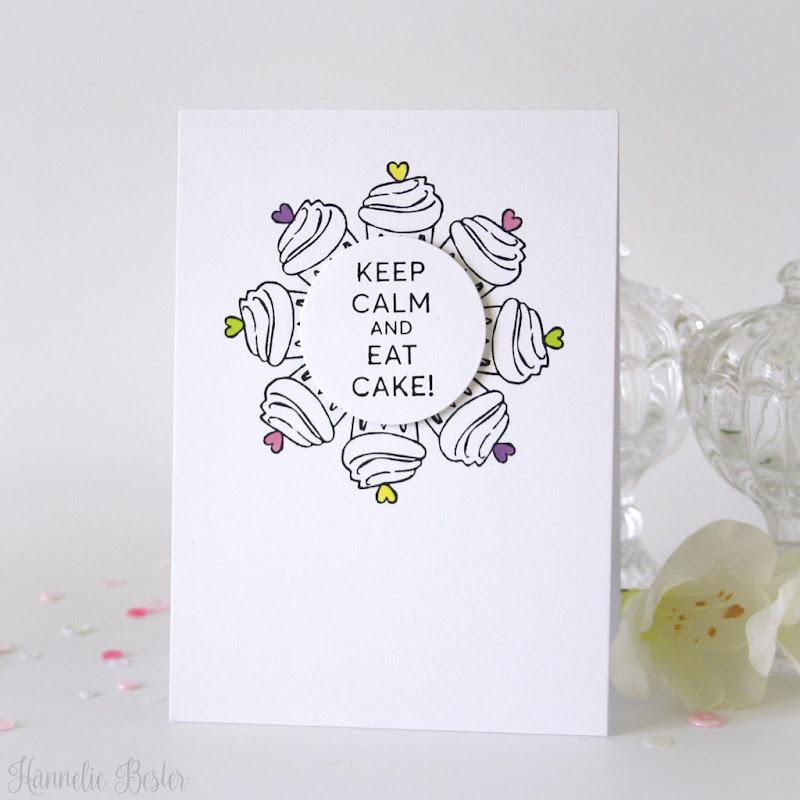Keep calm - Eat cake - birthday card