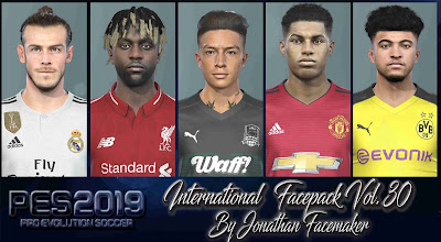 PES 2019 Facepack International Vol 30 by Jonathan Facemaker