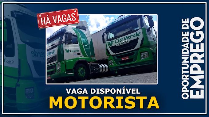 Transportadora Cia Verde abre vagas para Motorista Carreteiro
