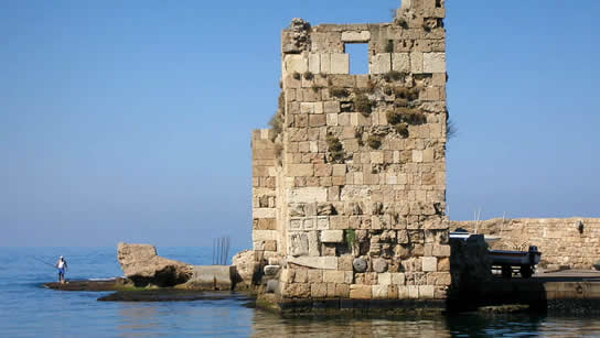 Another Bylos ruin in port