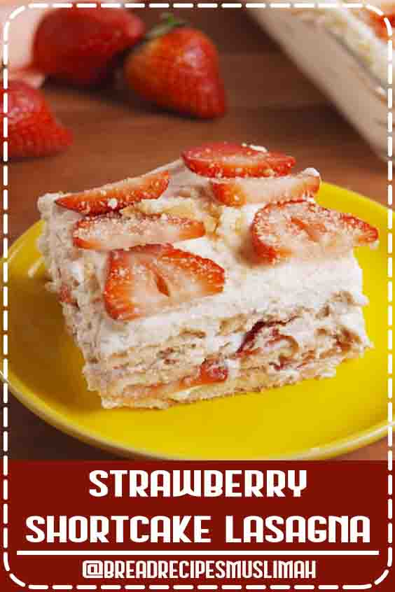 Easy to make, hard to resist. This no-bake Strawberry Shortcake Lasagna is all you need for your springtime party. Get the recipe at Delish.com. #delish #easy #recipe #nobake #dessert #dessertrecipe #strawberryshortcake #dessertlasagna #lasagna #nillawafers #coolwhip  #Fruit #Bread #Recipes #breakfast