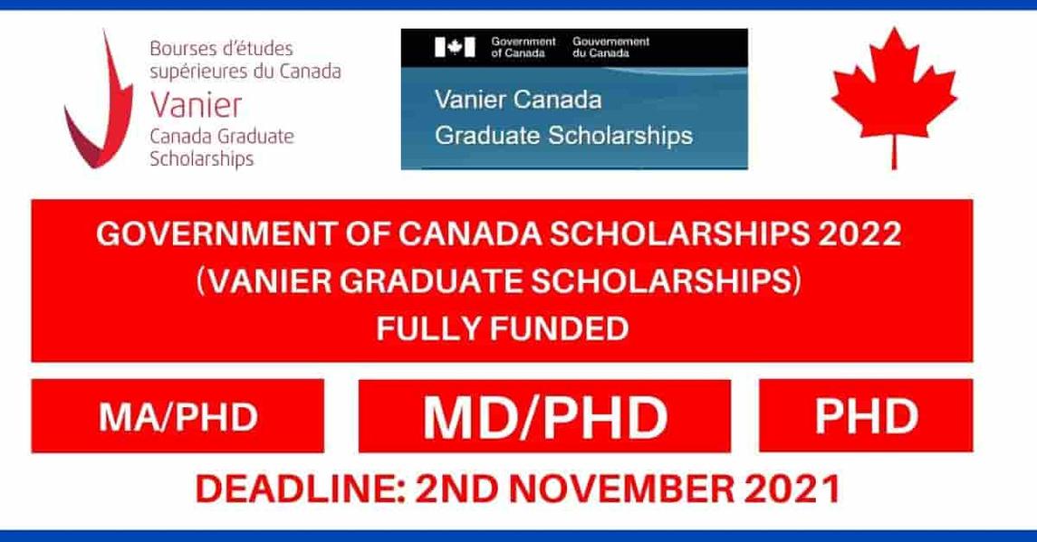 Vanier Canada Graduate Scholarship in Canada 2022 | Study in Canada