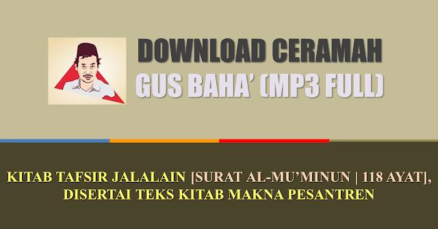 download ngaji gus baha' tafsir jalalain dan kitab al hikam