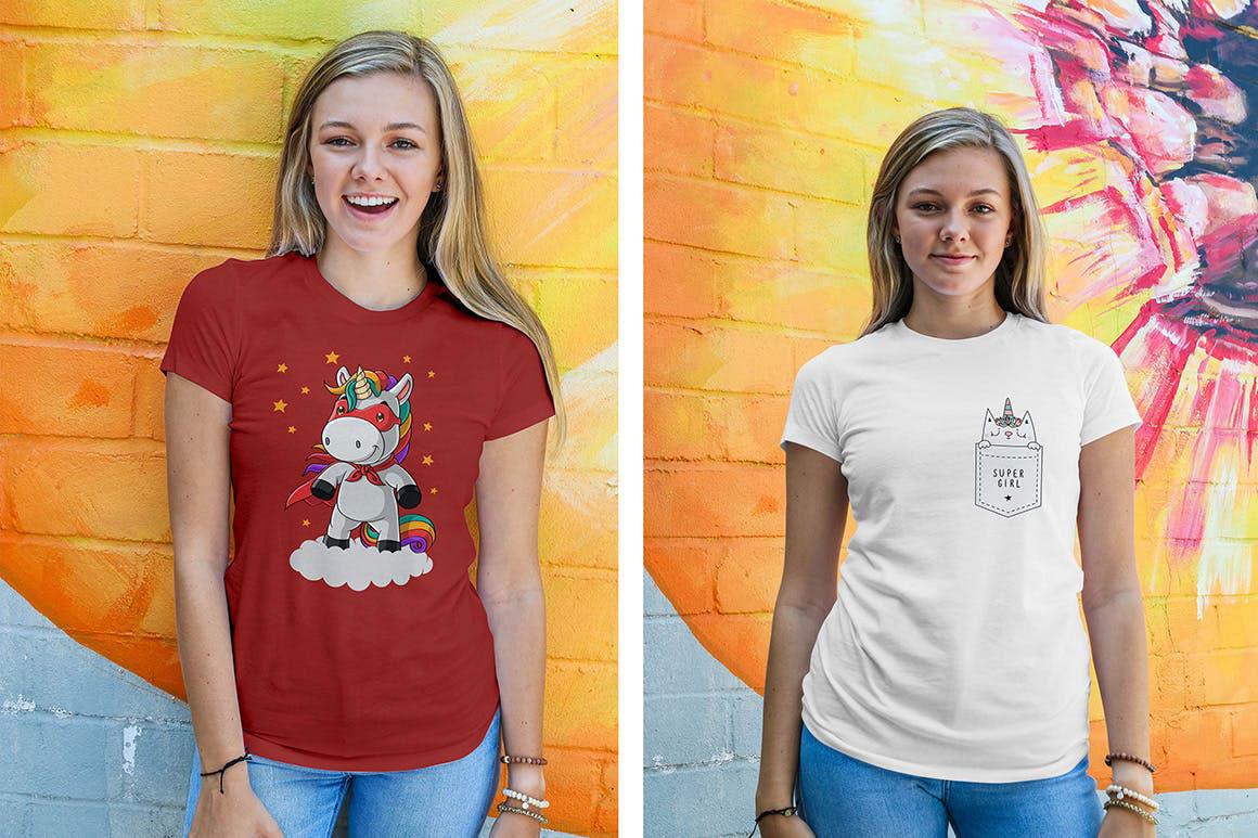 Women Urban T Shirt Mockups..
