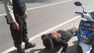 Inilah sangsi yang diberikan bagi pelanggar dalam Operasi Yustisi di Polsek Malangbong