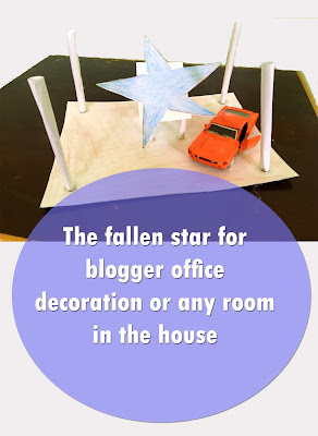 The fallen star for blogger office decoration or any room in the house