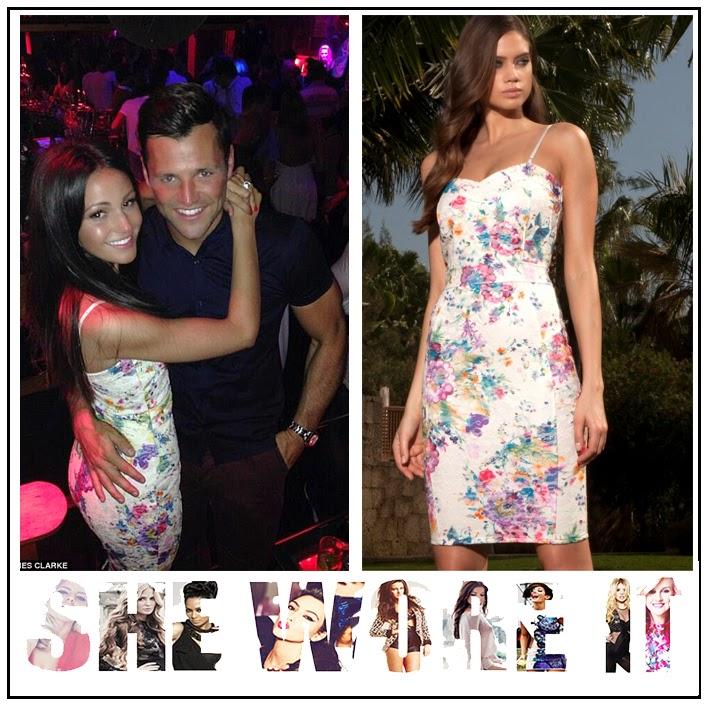 Bodycon, Dress, Floral Print, Lipsy, Michelle Keegan, Multicoloured, Pencil Dress, Sleeveless, White,