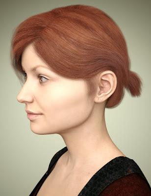 Sylvia Hair for Genesis 3 Female(s)