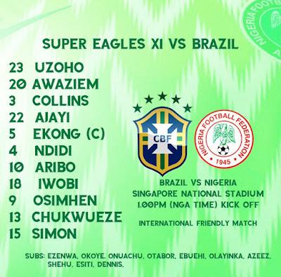 LIVE MATCH: Brazil Vs Nigeria Fifa Internationals 13/10/2019