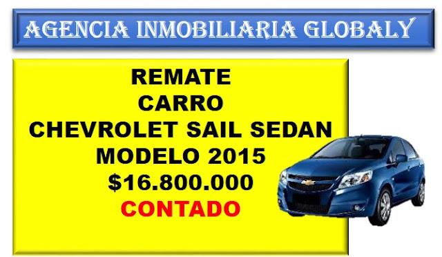 REMATE CARRO CHEVROLET SAIL SEDAN 2015