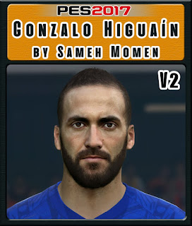 PES 2017 Faces Gonzalo Higuain by Sameh Momen