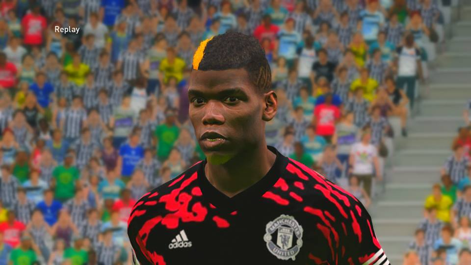 PES 2017 Paul Pogba New Face by Ahmed Tattoo & Facemaker