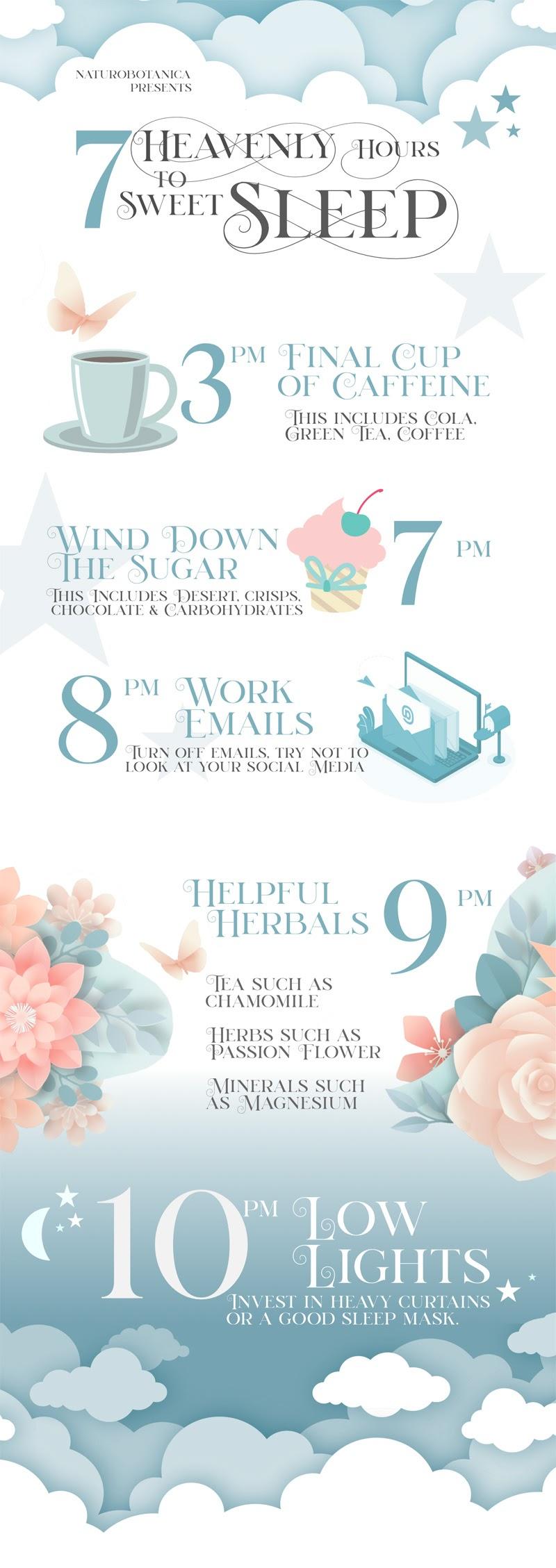 Seven hours to Sweet Sleep #infographic
