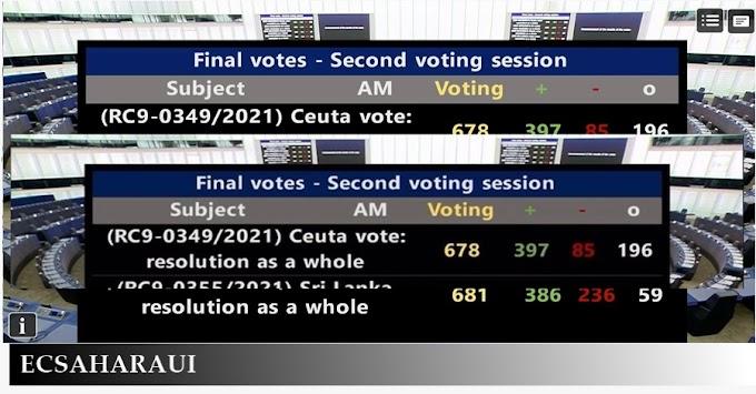 El Parlamento Europeo condena (con 397 votos a favor) a Marruecos por el uso de menores en la crisis de Ceuta.