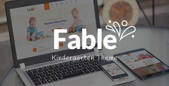 Fable v3.3 - Chủ đề WordPress dành cho trẻ mẫu giáo