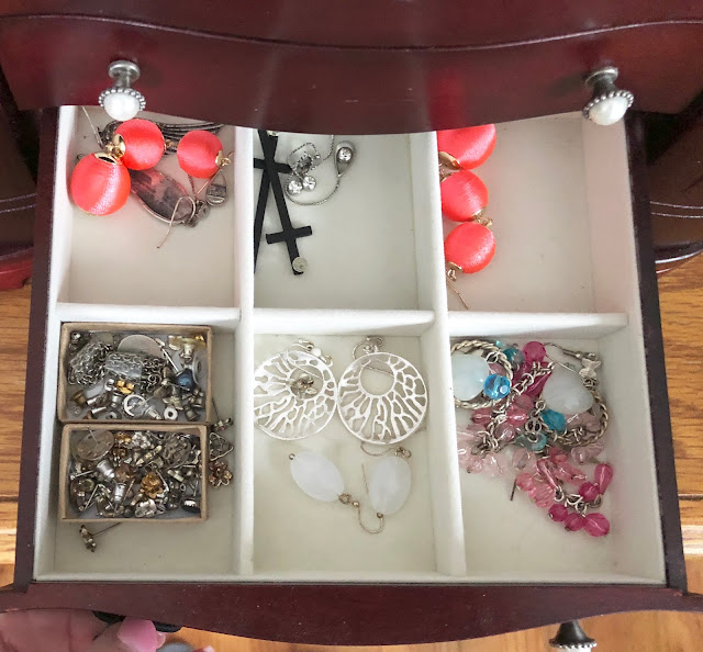 Organized Jewelry box BEFORE photo