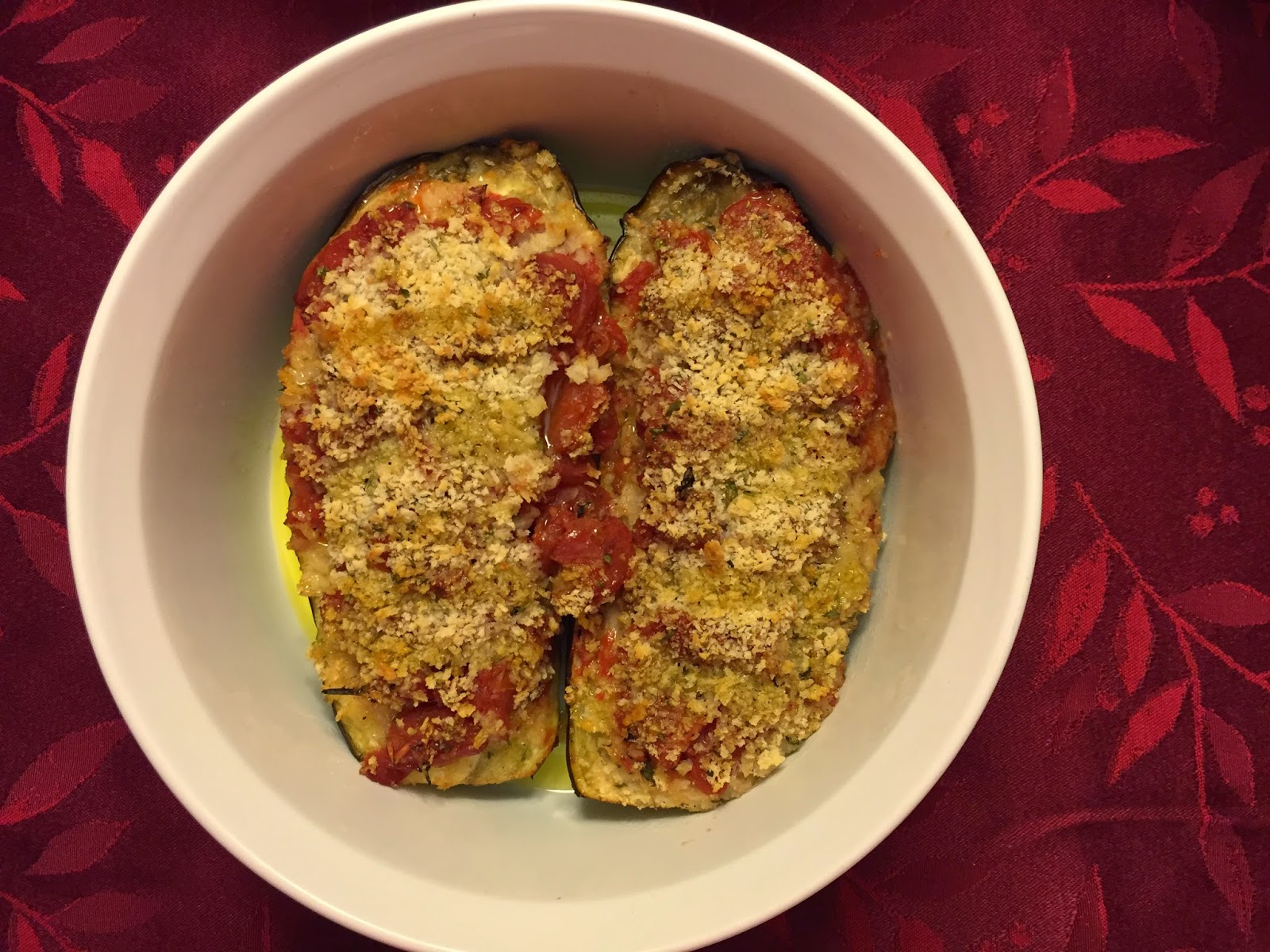 Baked eggplant from Puglia