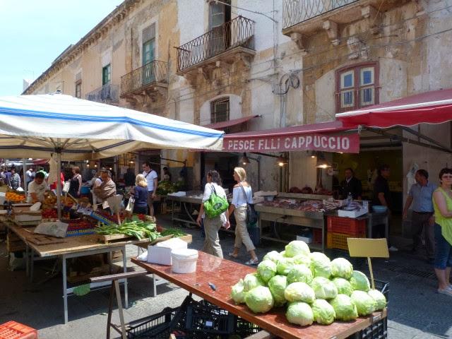 Markt in Siracuse, Sicilie