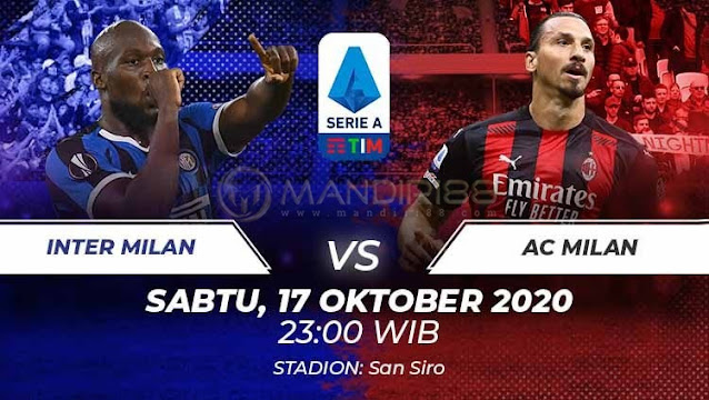Prediksi Inter Milan Vs AC Milan, Sabtu 17 Oktober 2020 Pukul 23.00 WIB @ RCTI