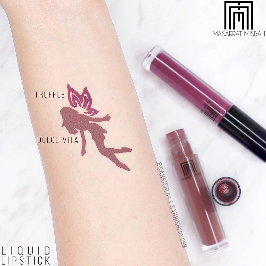 Masarrat Misbah Liquid Lipsticks - Review, Lip Swatches & Arm Swatches