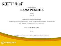 Request Template Desain Sertifikat Ramadhan Gratis untuk Lembaga Anda