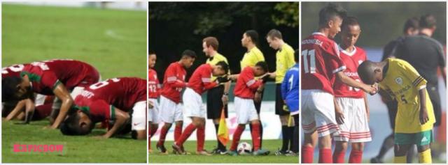 Sujud Syukur Cium Tangan Sepakbola