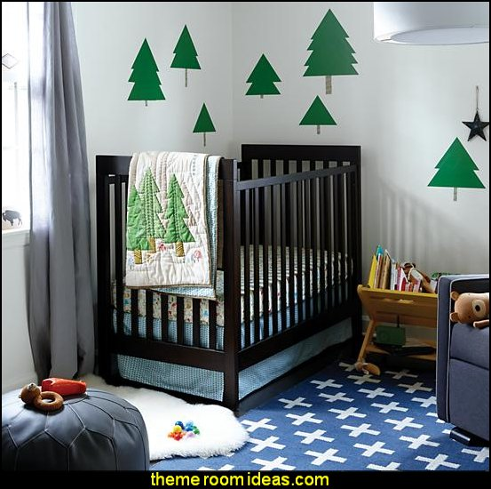 Nature Trail  - toddler Bedding - crib bedding log cabin - rustic style decorating - Cabin decor - bear decor - camping in the northwoods style  - Antler decor - log cabin boys theme bedroom - Cabin Bedding - Rustic Bedding - rustic furniture - cedar beds - log beds - LOG CABIN DECORATING IDEAS - Swiss chalet ski lodge murals - camping room decor - hunting and fishing theme decorating