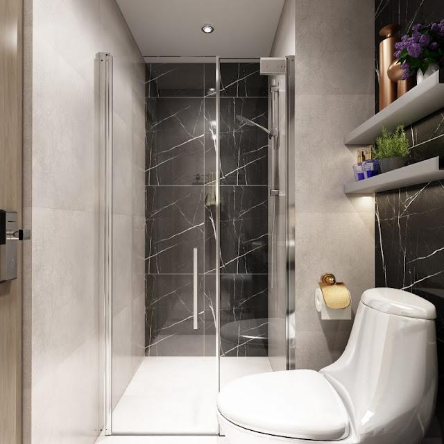 Thiết kế chung căn hộ Sơn Trà Ocean View 2 phòng ngủ - Phòng toilet