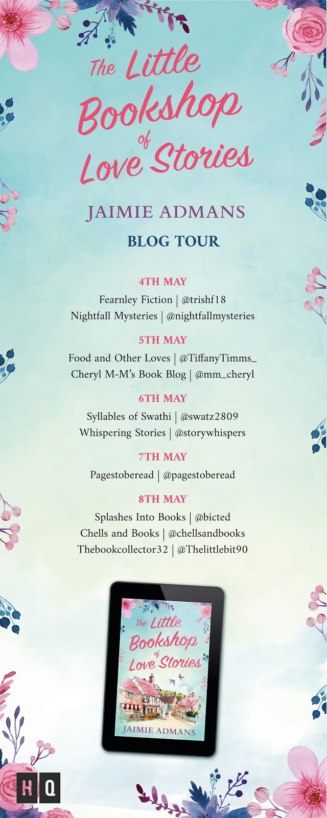 The Little Bookshop Of Love Stories by Jaimie Admans book tour poster