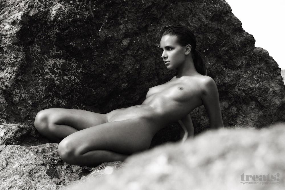 Maria Popova Topless Black And White Shoot For Treats Magazi Porn300 1