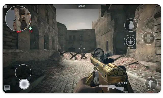 لعبةأبطال الحرب العالمية الثانية  World war heroes : ww2 shooter آخر إصدار للأندرويد.