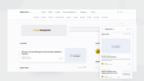 Fletro pro Responsive Blogger Template[Premium] dgntemplate