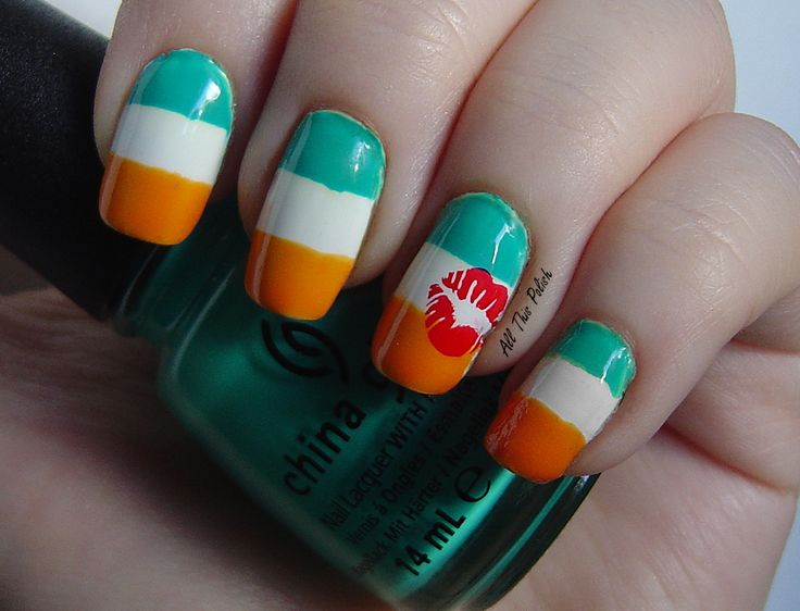 Use Stripes To Create Patterns For Tricolour Nail Art