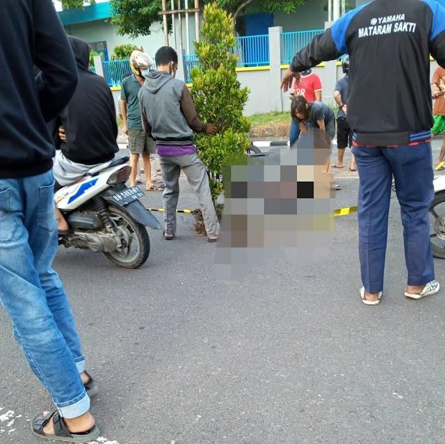 Tewas di Tempat, Pengendara Suzuki Spin Tabrak Pot Bunga Hingga Pecah