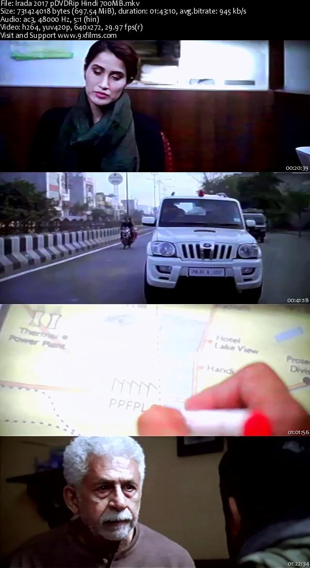 Irada 2017 pDVDRip x264 Hindi 700MB