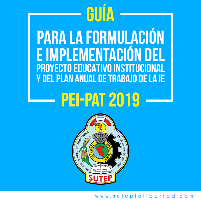 Aplicativo para elaborar PEI y PAT- 2019