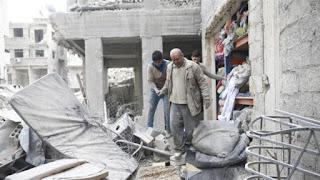 Terus Digempur Syiah Assad Ribuan Warga Pinggiran Damaskus Tinggalkan Rumahnya