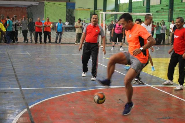 Tim Futsal Forkopimda Sragen Kalahkan Tim Wartawan
