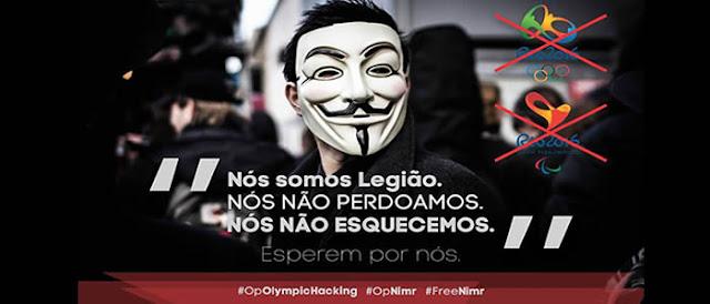 Anonymous inicia a #OpOlympicHacking e ataca sites relacionados a olimpíadas.